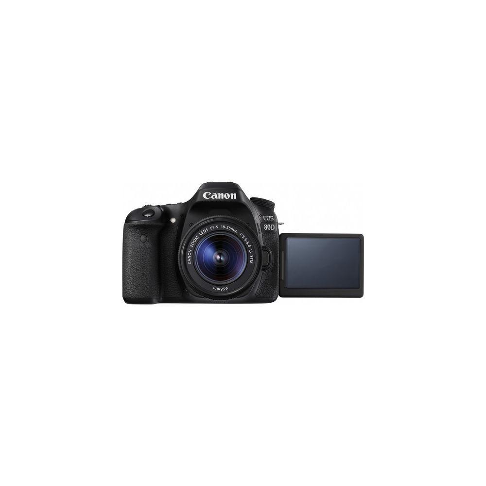 canon eos 80d 24 2 mp slr ef s 18 55mm is stm lens. Black Bedroom Furniture Sets. Home Design Ideas
