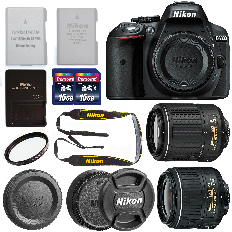 Nikon D5300 DX Format Digital SLR Camera Body, Bundle