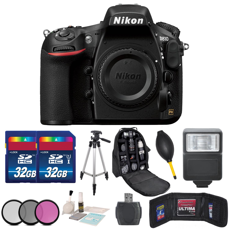 Nikon D810 Dslr Camera Kit Body Accessory 64gb Bundle Cleaning 7 In 1