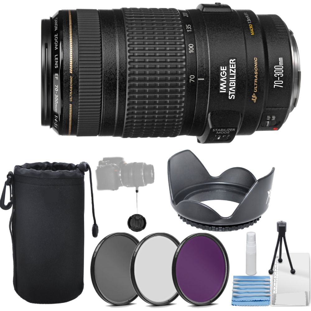 Canon EF 70 300mm F 4 56 IS USM Telephoto Zoom Lens More