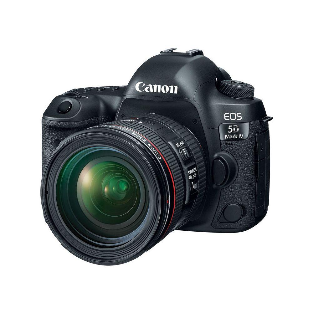 canon eos 5d mark iv dslr camera with 24 70mm f 4l lens. Black Bedroom Furniture Sets. Home Design Ideas
