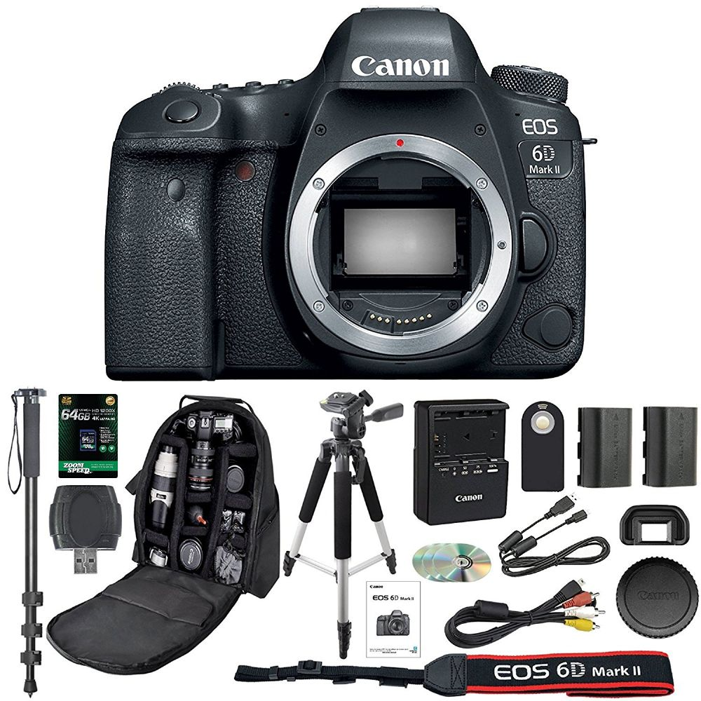 Canon EOS 6D Mark II Digital SLR Camera With Wifi Body Only