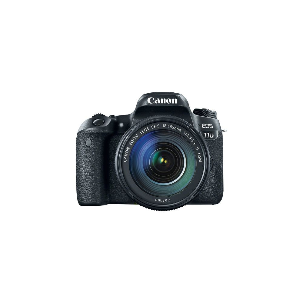 canon eos 77d dslr camera with 18 135mm usm lens. Black Bedroom Furniture Sets. Home Design Ideas