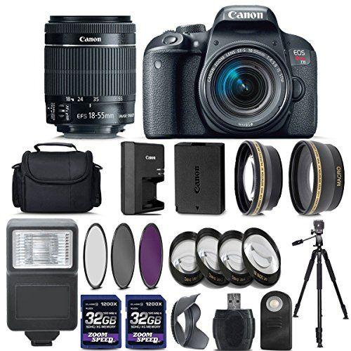 Canon Eos Rebel T7i 800d Digital Slr Camera 18 55mm Is Stm Lens Bundle