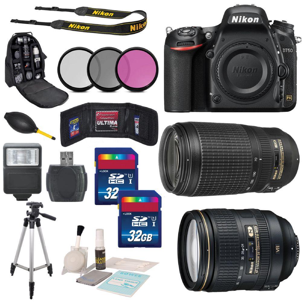 Nikon D750 Digital SLR Camera Body + Nikon AF-S NIKKOR Bundle