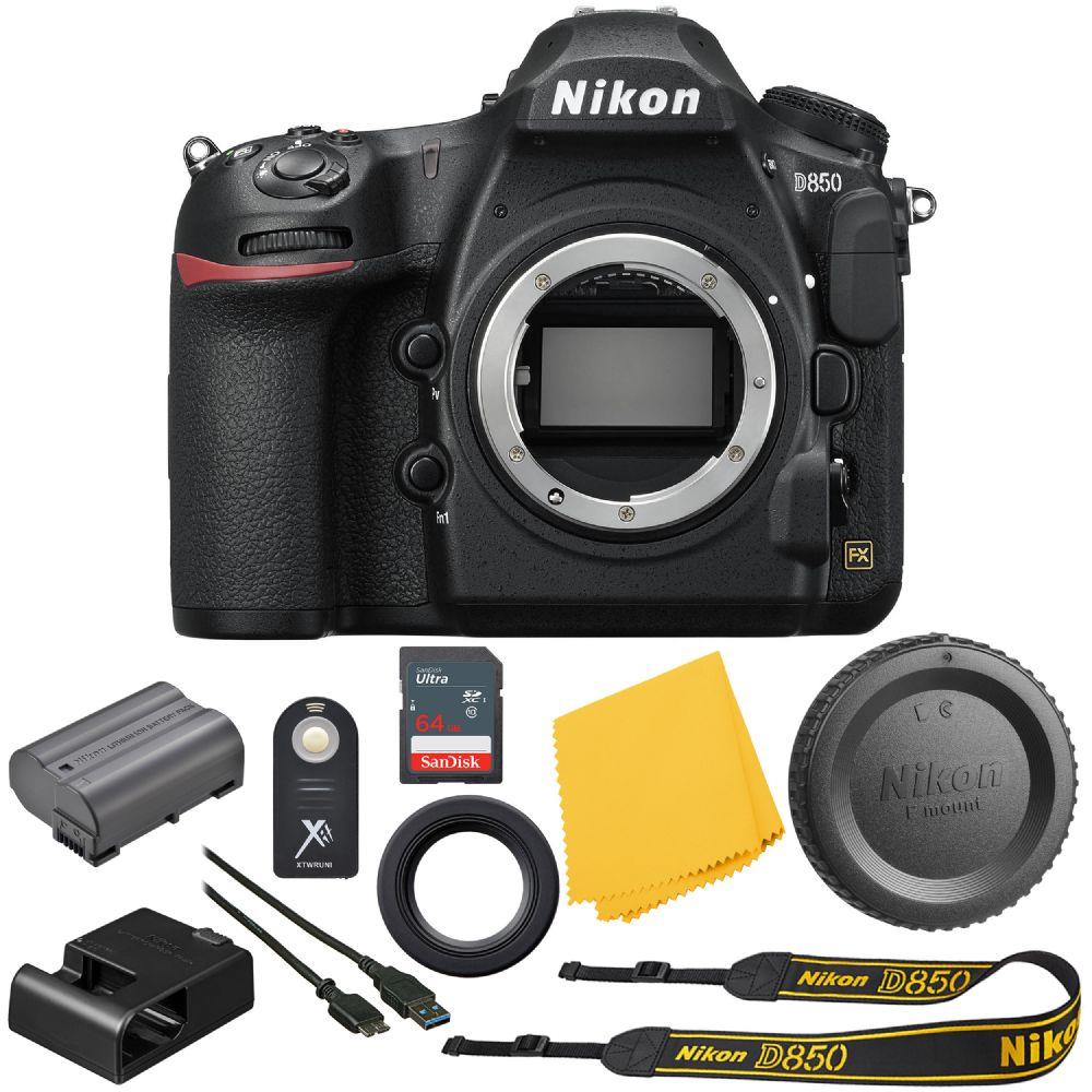 Nikon D850 FX-format Digital SLR: Camera (Body Only) Bundle + 64GB High  Speed Memory Card