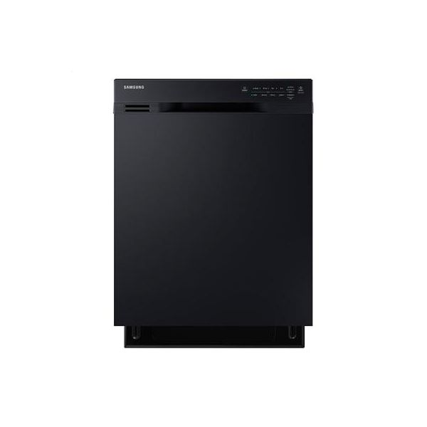 Dw80j3020ub Front Control Dishwasher With Stainless Steel Interior Black