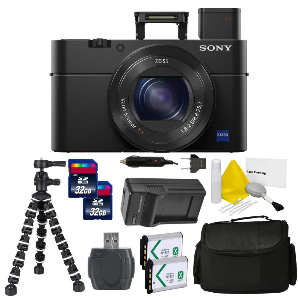 sony cyber shot dsc rx100 iv digital camera pro bundle kit. Black Bedroom Furniture Sets. Home Design Ideas