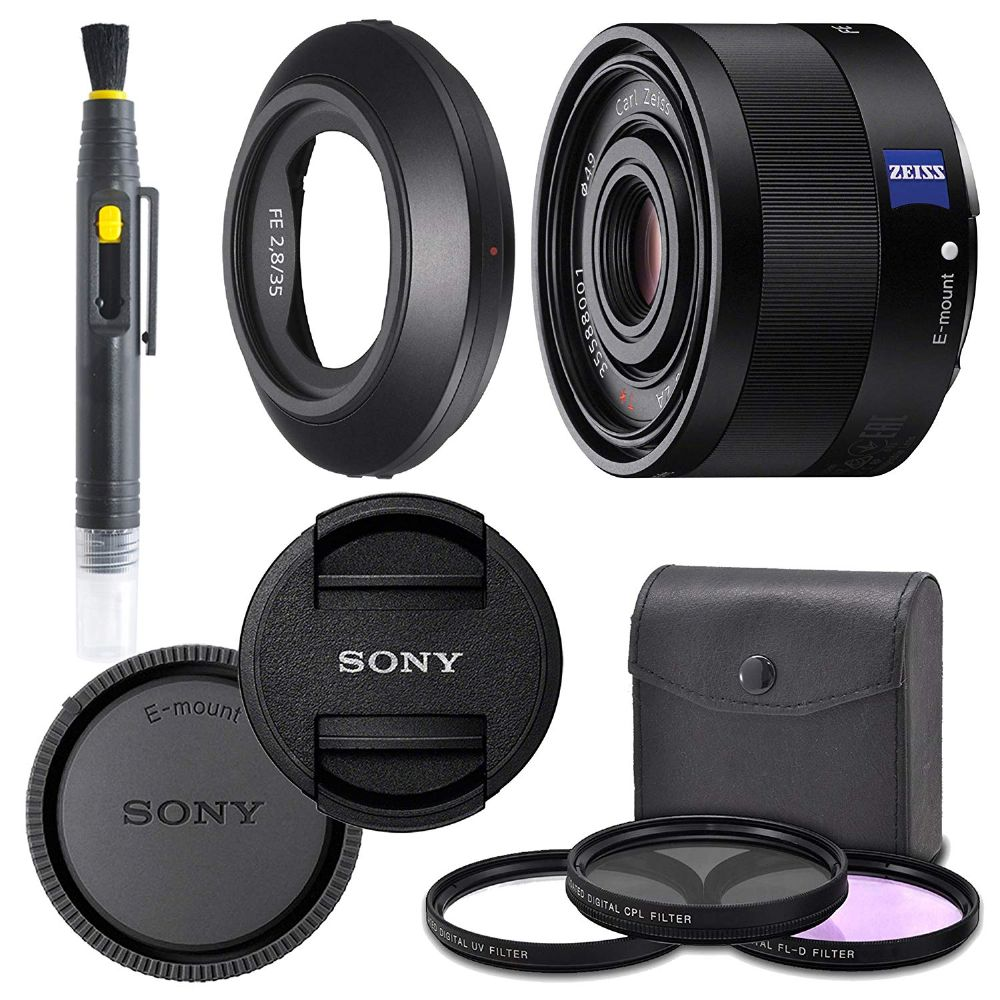 Nwv Direct Microfiber Cleaning Cloth. 3 Piece Lens Filter Kit Made by Optics Sony Sonnar T FE 35mm f//2.8 ZA High Grade Multi-Coated Multi-Threaded 49mm