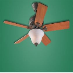 22431 The Brookline Provencial Gold Ceiling Fan