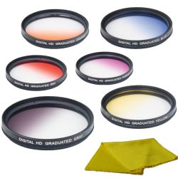58mm 6 Piece Color Graduated Filter Kit - Glass with Case