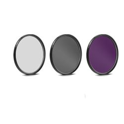 58mm Glass 3 Piece Filter Kit (Ultra Violet, Florescent, Circular Polarizer) - Multicoated