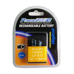 LP-E12 Replacement Lithium-Ion Battery, 7.2 volt 1150mAh, for Canon EOS M Digital Camera