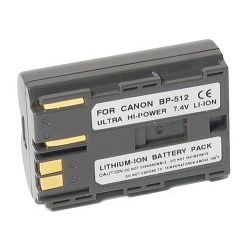 BP-511 Extended Life Lithium Ion Recharcheable Battery For Canon EOS 30D/40D Cameras