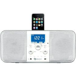 HDUOIPW Duo-I Plus Am/Fm Stereo Radio with iPhone / iPod Dock - White