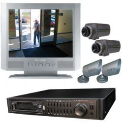 TBUN15070 15 Inch Color 4-Channel Quad Observation System with IP DVR and 4 Cameras