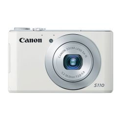 PowerShot S110 Digital Camera - with 12.1 Mega Pixels & 5x Optical Zoom - White