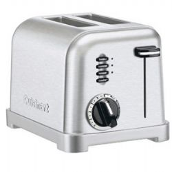 Cuisinart CPT-160 2 Slice Metal Classic Toaster - Factory Reconditioned - Silver