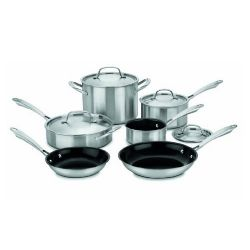 Cuisinart GGT-10 10-Piece Green Gourment Tri-Ply Stainless Set