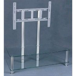 32 To 52 Inch Wide Plasma TV stand - Black Smoked Glass (Shown in Clear Glass)