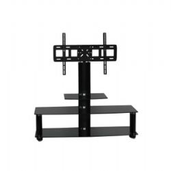 AVS-104 32 To 52 Inch Wide Plasma TV stand - Black Smoked Glass
