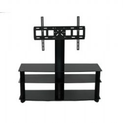 AVS106BK Wide 3 shelve Plasma TV stand Up To 52 Inch - Smoked Glass