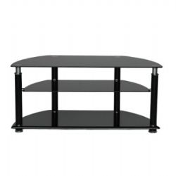 AVS107BK TV Stand Up To 47 Inch - Smoked Glass