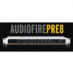 AudioFirePre8 In 16 Out Fireware Audio Recording w/ 8 Brilliant Microphone Preamps