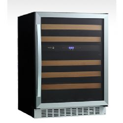 "24"" Undercounter Dual-Zone Wine Cooler with 46-Bottle Capacity"