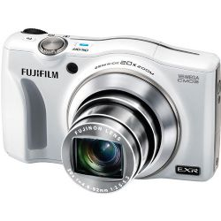 FinePix F750EXR 16MP Digital Camera, 20x Optical Zoom Lens, Full HD Movie Recording - White