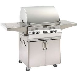 "Aurora Collection A530S2E1N62 55"" Freestanding Gas Grill with Single Side Burner and Rotisserie Backburner - Natural Gas"