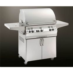 "Aurora Collection A540S1E1N62 62"" Freestanding Gas Grill with Single Side Burner - Natural Gas"