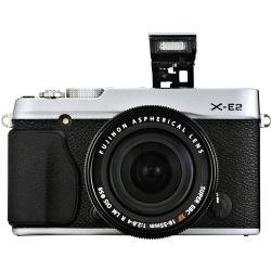 X-E2 Mirrorless Digital Camera with 18-55mm Lens (Silver)