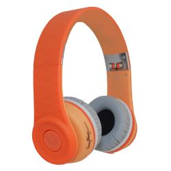 FW-1003-ORN - Wang On Ear Headphones With Remote in - Orange