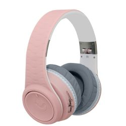 FW-2003-PNK-WHI Over Ear DJ Headphone With Remote - Pink & White