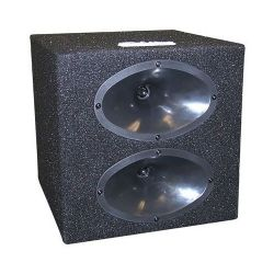 Tweeter box w/2 oval shaped horns