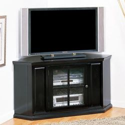 "46"" Black Rub Corner TV Stand"