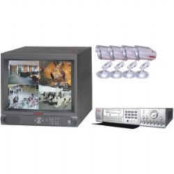 MSP-14DRW 14 Inch Color 4-Channel Quad-Observation System with DVR and CD Writer