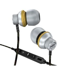 EMFE013SM Conqueror In Ear Earphones with Apple 3-Button Mic/Remote - Mist