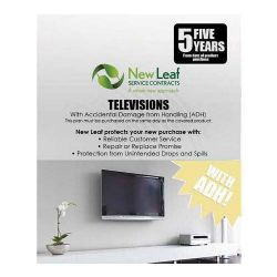 5 Year Television Service Plan with Accidental Damage Coverage (for Drops & Spills) for LCD under $2000