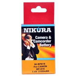 NI-BP819 Extended Battery For Canon BP-819