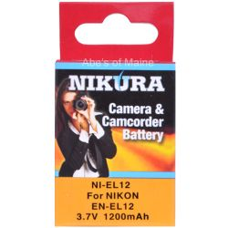 EN-EL12 Extended Life Battery for Coolpix S6300/ S9300 Cameras