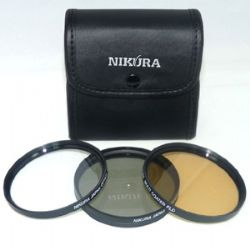 62mm 3-Piece Multi-Coated Filter Kit