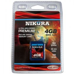 Ultra High Speed Premium 4GB SDHC Card