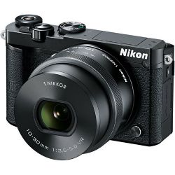 1 J5 Mirrorless Digital Camera with 10-30mm Lens (Black)
