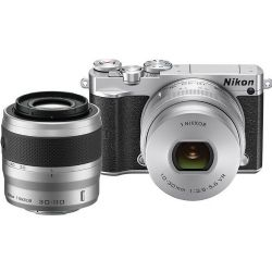 1 J5 Mirrorless Digital Camera with 10-30mm and 30-110mm Lenses (Silver)