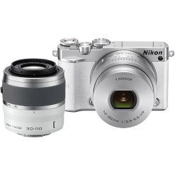 1 J5 Mirrorless Digital Camera with 10-30mm and 30-110mm Lenses (White)