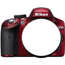 D3200 Digital SLR Camera Body - Red