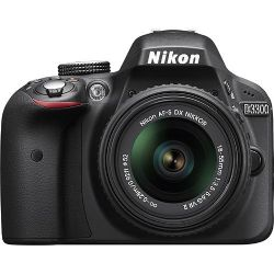 Nikon D3300 DSLR Camera with 18-55mm Lens Black