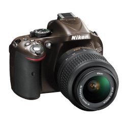 D5200 24.1 Megapixel DX-Format Digital SLR Camera with 18-55mm f/3.5-5.6G AF-S DX (VR) Lens - Bronze